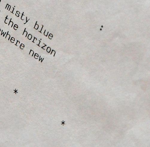 Gary Crossey Early Typesetting Example